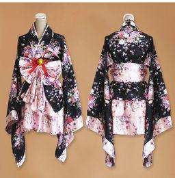 corto anime cosplay kimono japonés traje de lolita rojo mujer sexy disfraces góticos de halloween para mujer vestido más tamaño desde fabricantes