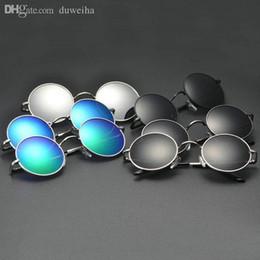 2019 оптовые хиппи-очки Оптовая мода хиппи ретро HD поляризованных солнцезащитных очков круглые старинные очки Очки классический круглый рамка солнцезащитные очки бесплатная доставка дешево оптовые хиппи-очки