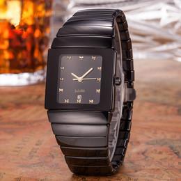 2019 montres de poignet carré Hommes de luxe de la mode céramique noire montre top montres à quartz carrés montre de conception de diamant montre-bracelet Livraison gratuite promotion montres de poignet carré