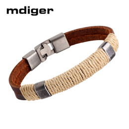 Wholesale Surfer Bracelets For Men - whole saleWholedale Mdiger Brand New Fashion Hot Unisex Charm Surfer Tribal Wrap Leather Bracelet For Men Men and Women Jewelry 5 Pcs Lot
