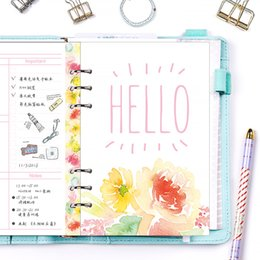 Wholesale Filler Flowers - Free shipping 2018 Dokibook A5 flower pages color spring Kawaii planner refill paper notebooks pages diary fillers wholesale new