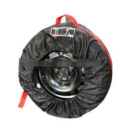 Ruote in nylon auto online-Coperchio ruota di scorta Coperchio per pneumatici Garage Poliestere Inverno Estate Pneumatici auto Borsa di stoccaggio Accessori pneumatici per pneumatici Protezione per ruote