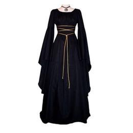 Costume d'Halloween Manches Longues O Cou Femmes Robe Grande Taille Sash Witch Costume Accessoires Fournitures de Vacances ? partir de fabricateur