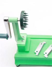 Máquinas de torneado online-Japonesa de múltiples funciones de giro máquina de cortar estilo de mano trituradora de plástico frutas y verduras rallador accesorios de cocina 35wy gg