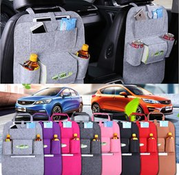 Wholesale Felt Fabric Squares - Felt Multifunction Hanging Organizer Car Sundries Holder Multi Pocket Travel Storage Bag Hanger Backseat Organizing Box Free Shipping