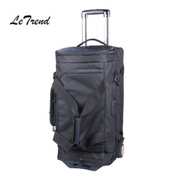 Wholesale Trunk Suitcase Luggage - Letrend large capacity 27 32 inch Travel Bag Rolling Luggage Business Shoulder bag Trolley Trunk Multifunction Suitcase Wheels