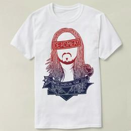 Wholesale Gown Music - Steve aoki t shirt Deadmeat DJ music short sleeve gown Leisure tees Unisex clothing Quality cotton fabric Tshirt