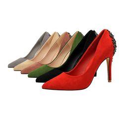Zapatos de boda coreanos online-Nuevo coreano profesional de la moda banquete zapatos de tacón alto de las mujeres de la boca baja señaló solo zapatos de boda entrega rápida