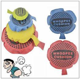 Wholesale Whoopee Cushions - 9cm 16cm April Fool Day Kids Fun Prank Toys Whoopee Cushion Joke Gags Pranks Maker Tricks Funny Toys Fart Pad Pillow CCA8870 120pcs