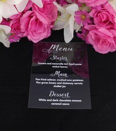 Wholesale Wedding Menu Cards - ME04 Personalised Acrylic wedding menu card