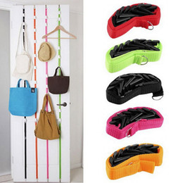 Wholesale Ties Organizer - 190x2.5cm Door Hooks Hanging Scarves Purse Hat Organizer Bag Hangers Cocina Tools Kitchen Bathroom Accessories Home Decor