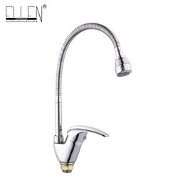 Wholesale Hot Cranes - Kitchen faucet Mixer Crane Cold and Hot Kitchen Tap Single Hole Water Tap ELKE01