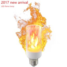 Wholesale Effect Power - TungWah E27 2-Modes LED Flame Effect Fire Light Bulbs 5W AC 85-265V Flickering Emulation Decorative Lamp
