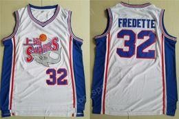 2019 nuevo estilo de camiseta de baloncesto Nuevo estilo 32 Jimmer Fredette Shanghai Sharks Jerseys Hombres Universidad Universidad Película Baloncesto Fredette Jersey Equipo Blanco Cosido Venta nuevo estilo de camiseta de baloncesto baratos