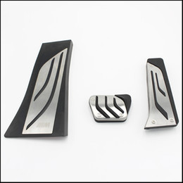 Wholesale Car Footrest - car styling Gas Footrest Modify Pedal Plate Pad AT For BMW X5 X6 E70 E71 E72 F15