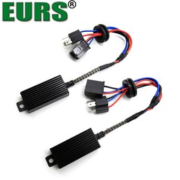 headlight harness Coupons - EURS 2pcs H1 H4 H13 H7 H8 H11 HB3 9005 HB4 9006 LED Decoder Resistor Canbus Harness Adaptor For Headlight Bulbs Light Error Free