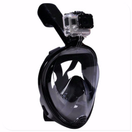 Maschera da sub online-2018 HOT Swimming Diving Snorkeling Full Face Mask Surface Scuba per L / XL