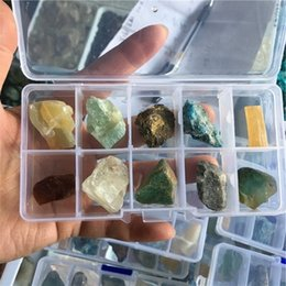 Wholesale Africa Box - 10 crystal 3D identifier gemstone minerals new age gift collectables pagan natural stones and minerals Teaching specimens