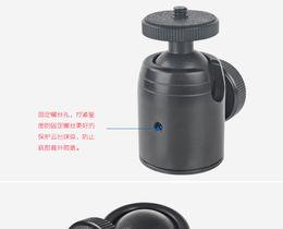 """Tripé inclinável on-line-Alumínio Pan cabeça inclinada 360 graus Giratória Mini Bola Cabeça Pequeno com 1/4 """"Montagem Parafuso para DSLR Camera Tripod ..."""