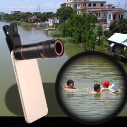 Appareil photo à zoom optique en Ligne-Universel 12X Téléphone Mobile Télescope HD Externe Téléobjectif Remplacement Télé Objectif Optique Zoom Cellulaire Caméra Kit