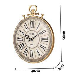1 Pc 50 Cm Montre De Poche Style Horloge Murale Grand Horloges Murales Vintage Aiguilles Aiguilles Pour Salon Décoration De La Maison