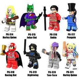 Wholesale Mini Plastic Penguin - New Style Minifig Super Heroes Series Mix Lot Jokae Bat Robin Penguin Nightwing Harley Quinn PG8103 Minifig Mini Building Blocks Figures