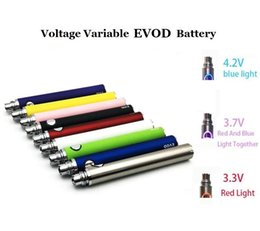 Wholesale ecig twist variable voltage battery - EVOD VV Variable Voltage Battery 650mAh 900mAh 1100mAh Evod Twist eGo Ecig Batteries for MT3 CE4 CE5 Atomizer
