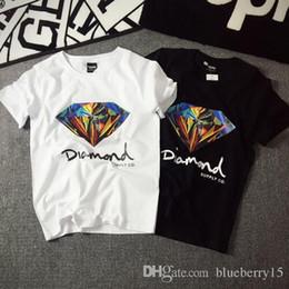 Wholesale En gros Nouveau fahion D Diamond hommes manches courtes t shirt skateboard marque de mode vêtements hip hop camisetas mens tops chemise homme