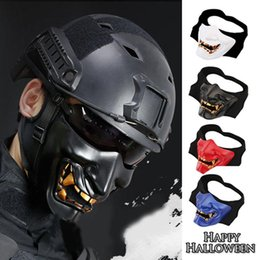 Wholesale Tactical Ghost Mask - Cool Ghost Demon Masks Evil Halloween Party Decoration Party Cosplay Tactical Halloween Supplies