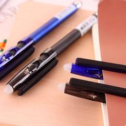 Canada Multi-fonctionnel gel effaçable stylo à friction 0.5mm créatif en gros écran tactile en cristal bleu / encre noire Corée du Sud papeterie Offre