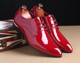 Zapatos de boda tamaño 37 online-Zapatos de cuero de oficina de negocios para hombres de caballero de lujo en cuero real zapatos de boda grandes prendas transpirables de gran tamaño 37-48 x45.