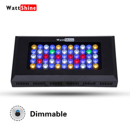 Wholesale Led For Reef Aquarium - The newest and most competitive model Free Shipping 165W led aquarium light for reef marine tank with 3 years warranty