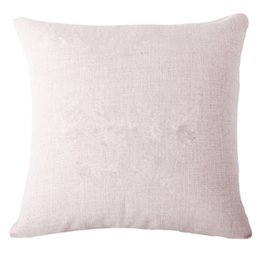 Wholesale printing text - Custom Designs Linen Pillow Cover Print With Your Pictures Texts Unique DIY Square Throw Pillowcase