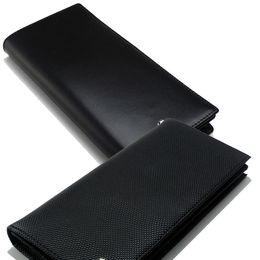 Men S Luxury Fashion Mb Genuine Leather Wallets Business Card Case Black Long Card Holder Cash Clip Wallet