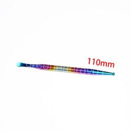 Top Qualité Titane Outil GR2 Titanium Dabber Wax Dab Outil Titanium Nail Dabber Outil 110mm Coloré Double Tête 1 pcs ? partir de fabricateur
