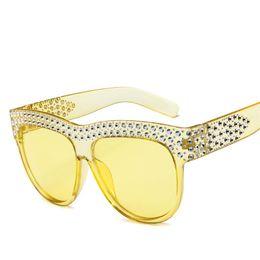Nachahmungs-sonnenbrillen online-[EL Malus] 2018 Großen Übergroßen Rahmen Sonnenbrille Männer Frauen Nachahmung Diamant Retro Marke Designer Hohe Qualität Sonnenbrille Weibliche SG008