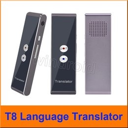 Wholesale learning language - Portable Smart Voice Translator Two-Way Real Time Multi-Language Translation For Learning Travelling Business Meeting T8 with Retail box
