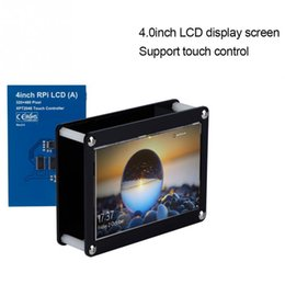 raspberry pi lcd touch screen Coupons - 4.0Inch LCD Screen 480x320 Touch Control LCD Display Screen+Black Acrylic Case for Raspberry Pi