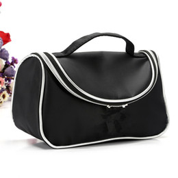 Wholesale beauty cosmetics logos - Brand M cosmetic bag Makeup Bags Cosmetic Retro Beauty Wash Case Zipper Handbag Makeup Bags cases with logo girl gift
