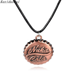 Wholesale Party Halloween Games - Kuziduocai New Hot Fashion Fine Online Game Fallout 3 Jewelry Accessories Nuka Cola Drinks Necklaces & Pendants For Unisex N-444