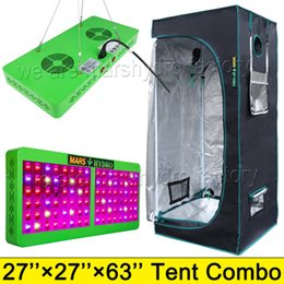 Wholesale led kit red blue - Mars Hydro Reflector 480W LED Grow Lights Hydroponic Kit Plant Lamp +1680D 70*70*160 Indoor Grow Tent