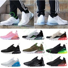 Wholesale womens air - 2018summer New high quality Mens Running Shoes Black white 270 Trainer Sports Womens air sole 27C Sneakers Size US 5.5-11(With Box)