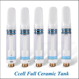 Wholesale E Cigarette Vapors - CCELL 510 Vaporizer Full Ceramic Tip Cartridge O Pen CE3 Vapor 510 Oil E Cigarette Bud Touch Cartridges Wee Cartridges