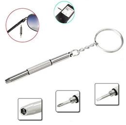 Wholesale Electronic Sunglasses - Mini (3in1) Eyeglass Screwdriver Keychain Screwdriver Repair Tool Eyeglasses Sunglasses Mobile Phone Watches Jewelry Electronics Light handy