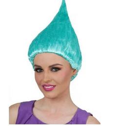 Pelucas de cumpleaños online-20pcs trolls peluca de amapola para los niños 36 cm peluca niños Cosplay Party Supplies trolls peluca 8 colores pelucas de la fiesta de cumpleaños