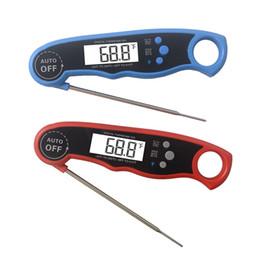 Cocina digital plegable Detector de alimentos Carne Termómetro para el hogar Instrumento de medición Parrilla de cocina 4 botones de acero inoxidable para alimentos Cookin desde fabricantes