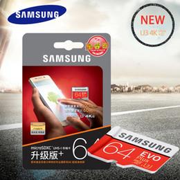 Carte mémoire d'origine SAMSUNG MicroSDXC 64 Go Class10 SDXC UHS-I Cartes TF pour cartes mémoire Cartouche de mémoire Tarjeta EVO Plus pour caméra Dash ? partir de fabricateur