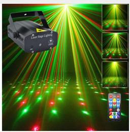 escudo Desconto Mini Preto Shell Portátil IR Remoto Vermelho Verde Laser Projetor Luzes DJ KTV Casa Festa de Natal Dsico LEVOU Iluminação de Palco I100B