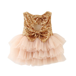 Крестильная одежда для девочек онлайн-First Birthday Baby Dresses 1 2 year Infant Party Toddler Christening Gown Newborn Clothes Tutu Sequins Summer Dresses For Girls