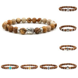 Wholesale head bracelet - Buddha head bead bracelet Mara prayer beads natural wooden bead bracelets men's bracelets